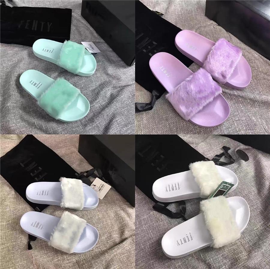 New Material auswählen Fashion Schwarzweiß und Silber rein und frisch Joker Powder Gesäumten Dekorative Art-Schlag-Toe Damen Slipper # 479