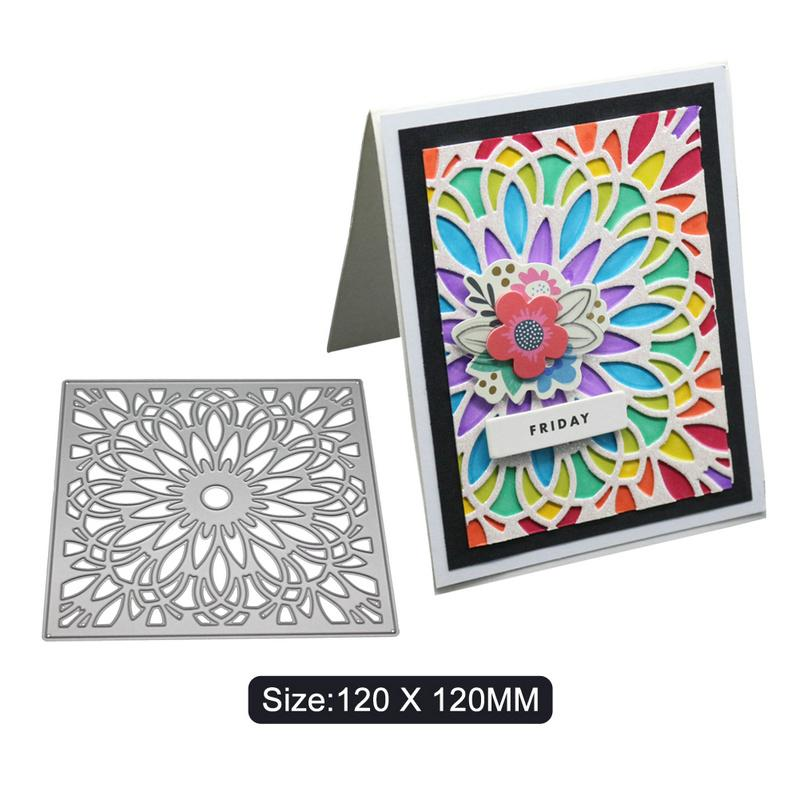 Metal Flower Frame Cutting Dies Template Die Cut For Scrapbook DIY Album Card