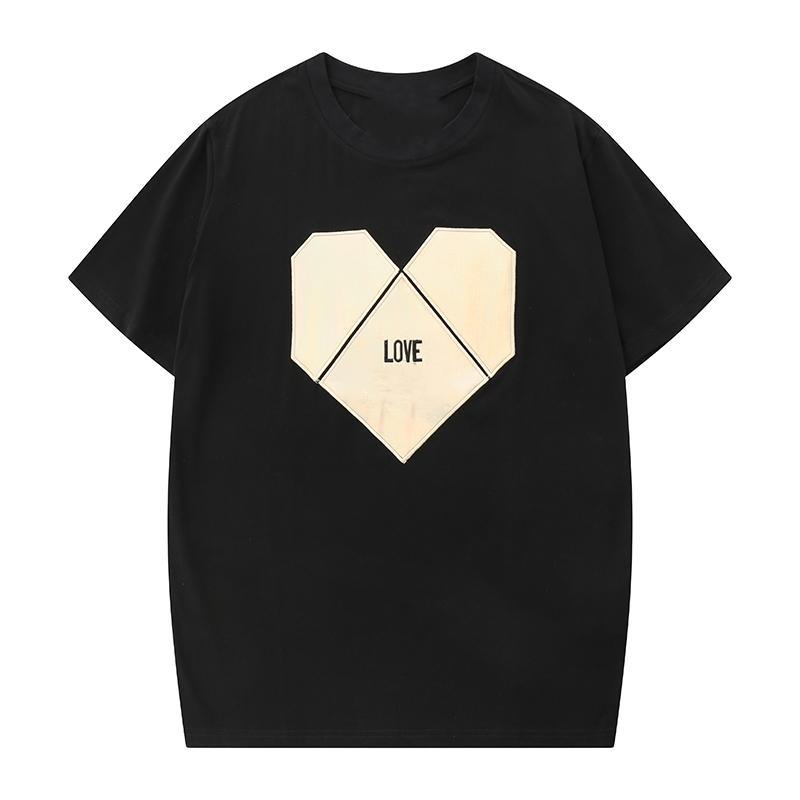 2020 TOP Mens Designer T-shirt d'été lettres Casual Hommes T-shirts loose Imprimer col rond manches courtes en coton Mélange de luxe Top Vêtements