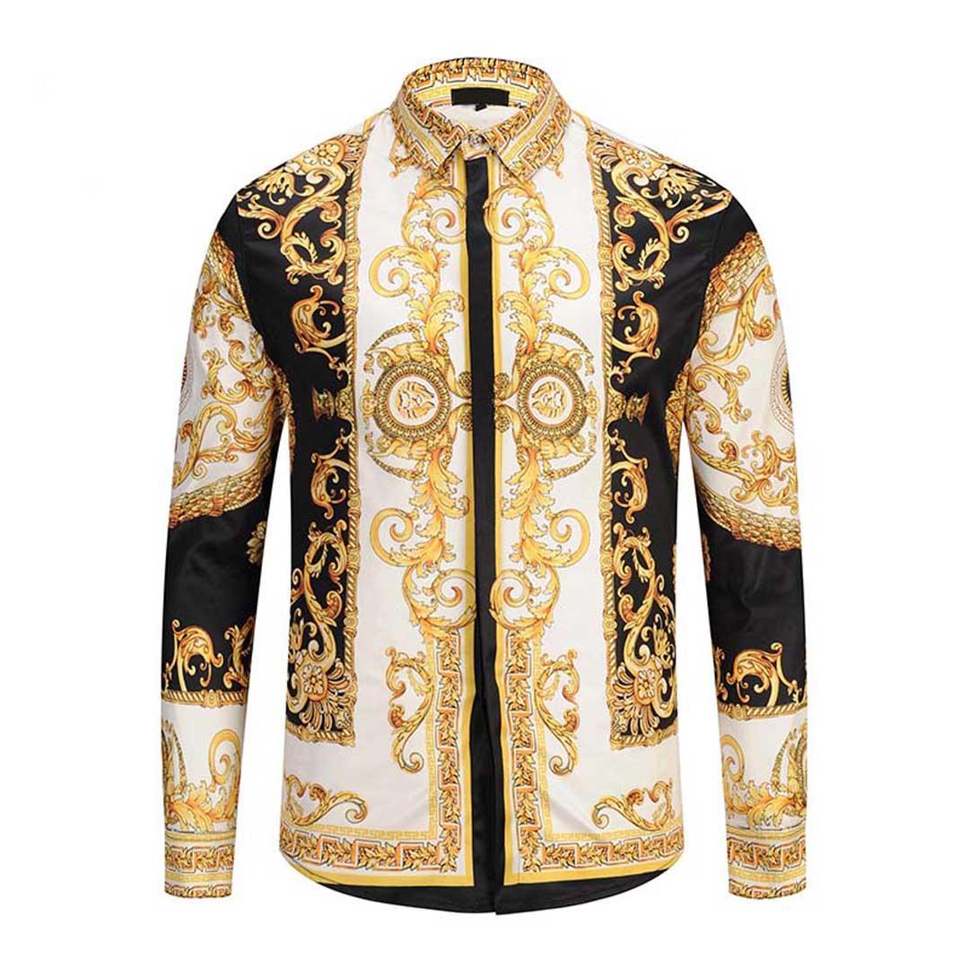 2019 новые мужские рубашки мужские деловые рубашки мужские рубашки с длинными рукавами медузы ретро роскошные рубашки M-2XL