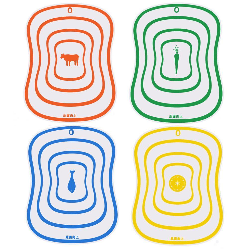 100 pz Plastica Tagliere antiscivolo Glassato Cucina Tagliere Verdura Carne Utensili Da Cucina Accessori Tagliere M, L