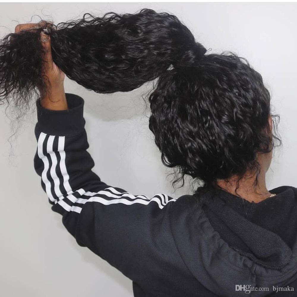 Cheveux Vague de dentelle perruques avant plumé avec bébé naturel Hairline Remy cheveux brésiliens Perruques pour les femmes