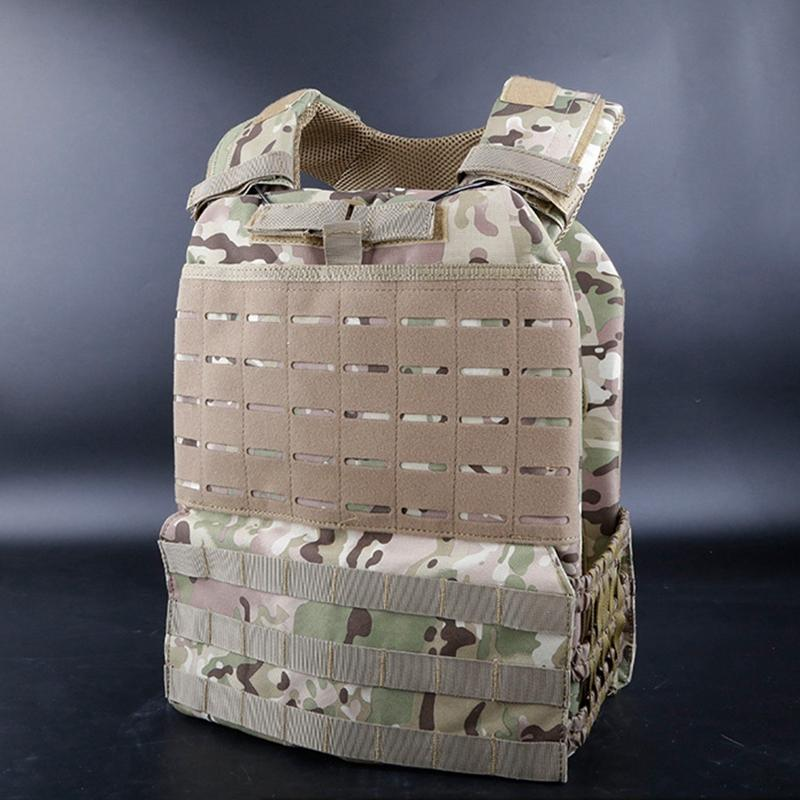 Tactical Vest Adjustable Body Armor Paintball Training Vest Molle Plate Carrierr CS Protective Gear