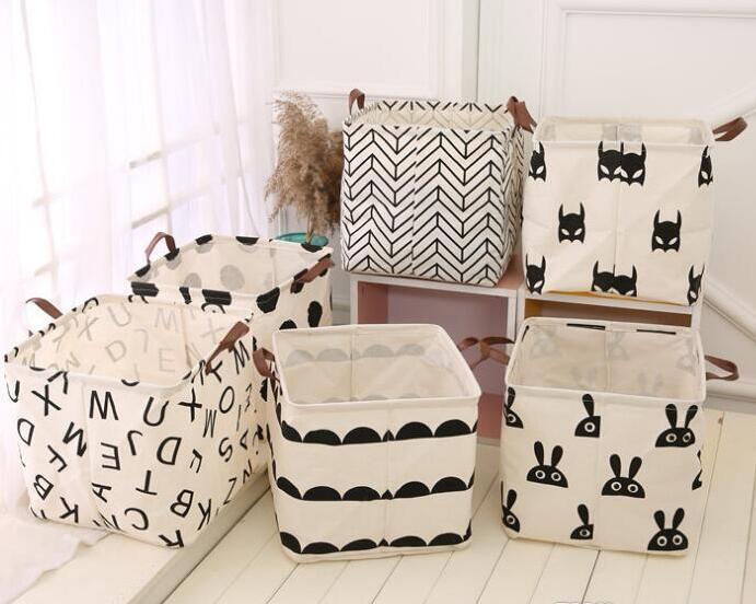 INS stoccaggio pieghevole secchio top bagno impermeabile vestiti sporchi scatola di immagazzinaggio lavanderia custodia giocattolo cotone e lino per bambini