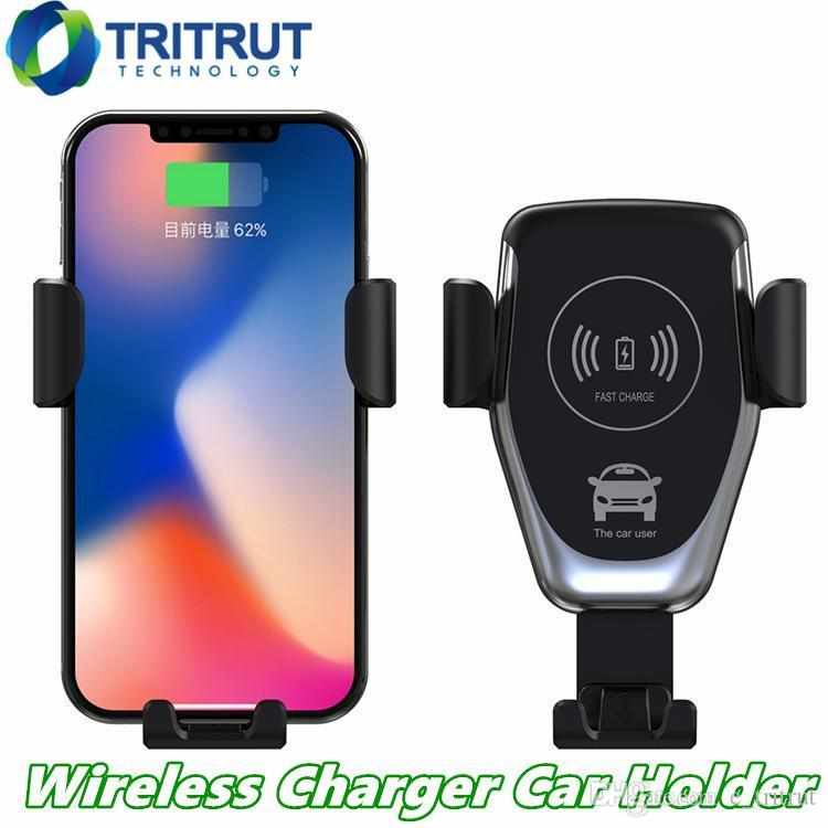 C12 Q12 veicolare senza fili del caricatore 10W di ricarica rapida Car Mount Air Vent Gravità Phone Holder Compatibile per iPhone di Samsung Tutti Qi dispositivi MQ20