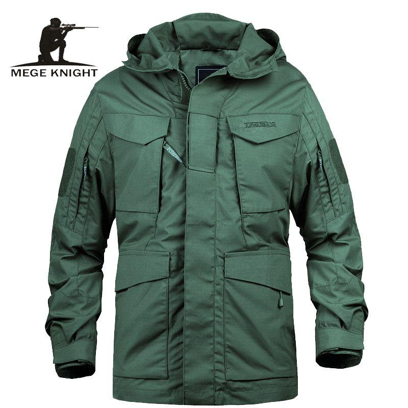 Jacken Mege Marke M65 Militär tarnt Männliche Kleidung US Army Tactical Männer Windjacke Hoodie Feldjacke Outwear casaco masculino