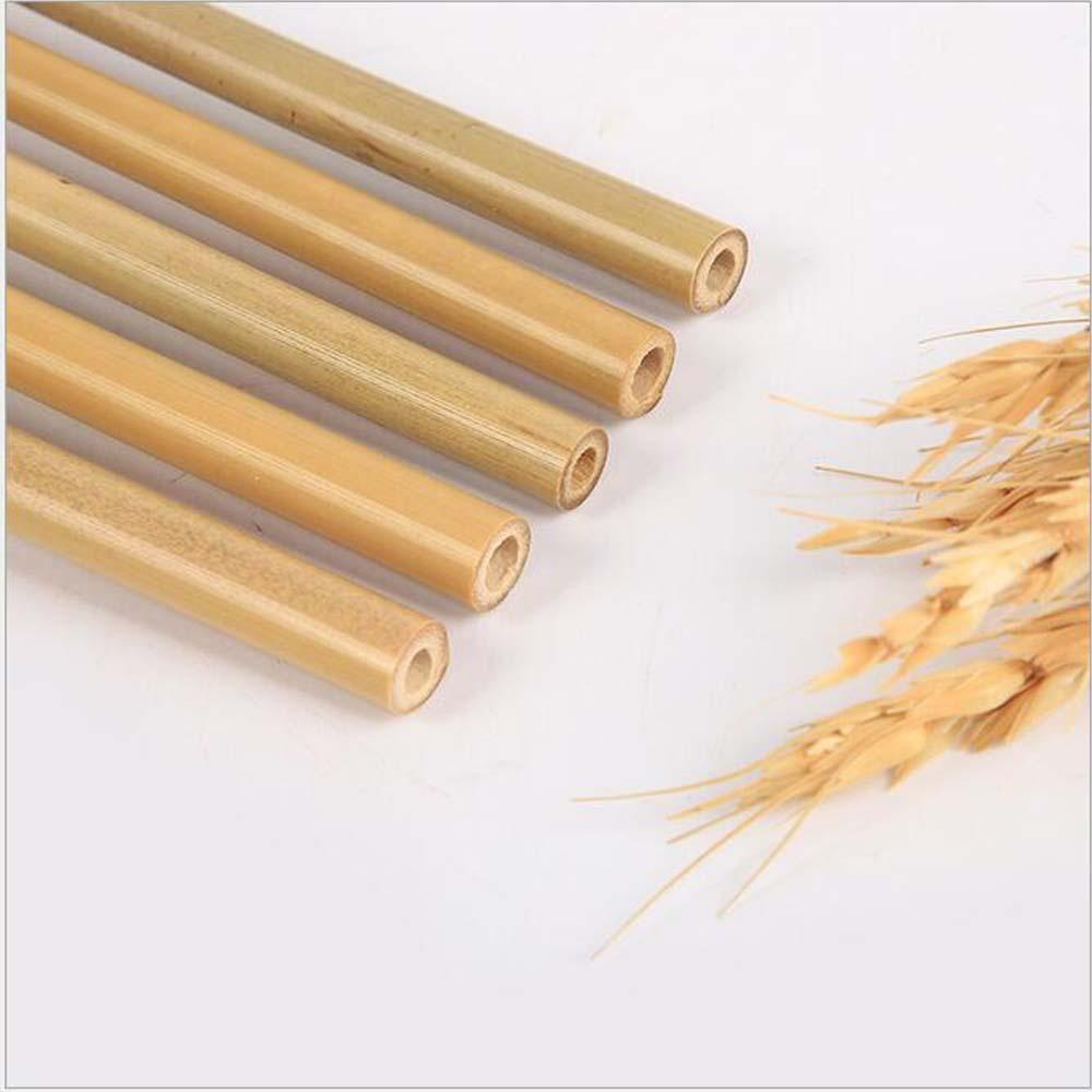 Suporte fazer o logotipo 20 * 0.6-0.8cm Natural Bamboo palhas reutilizável Bubble Tea Suco coffice Grosso Bamboo Straw Eco amigável Beber Ferramentas palhas