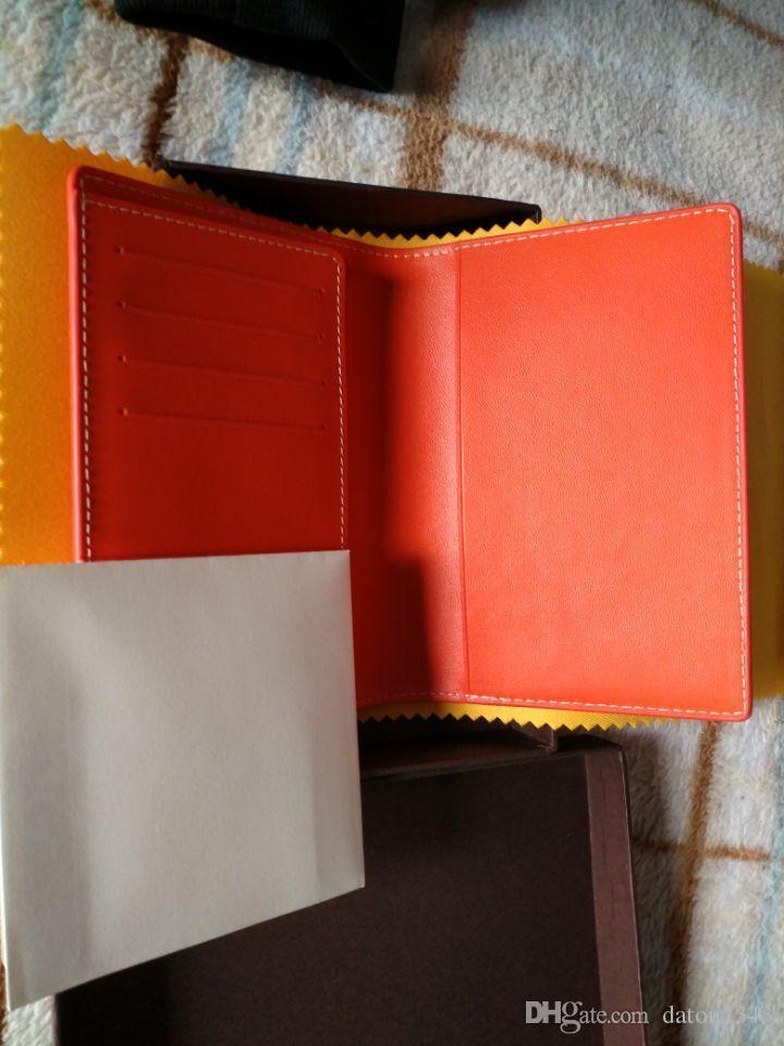 kutu toz torbası kağıt etiketleri ile Moda marka tasarımı GY pasaport kapağı çanta gerçek deri kart sahibinin