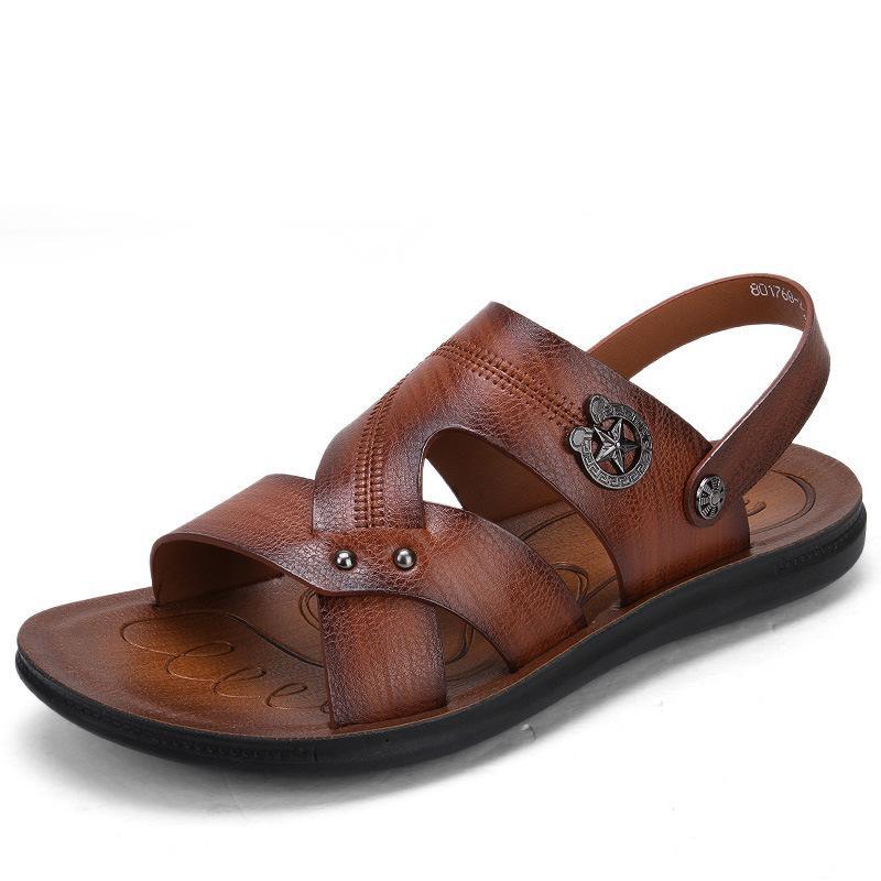 2017 новый стиль лето-стиль двойного назначения повседневные сандалии противоскользящие дышащие сандалии искусственная кожа