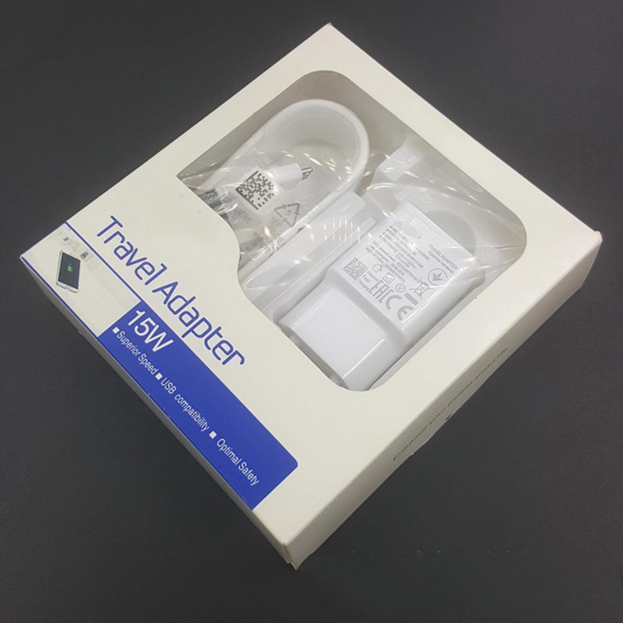 2 en 1 chargeur de Voyage 100% rapide de charge Mur Voyage Etats-Unis / UE Chargeur + 1,5M Micro Câble USB pour Samsung S6 S7 bord Note 4
