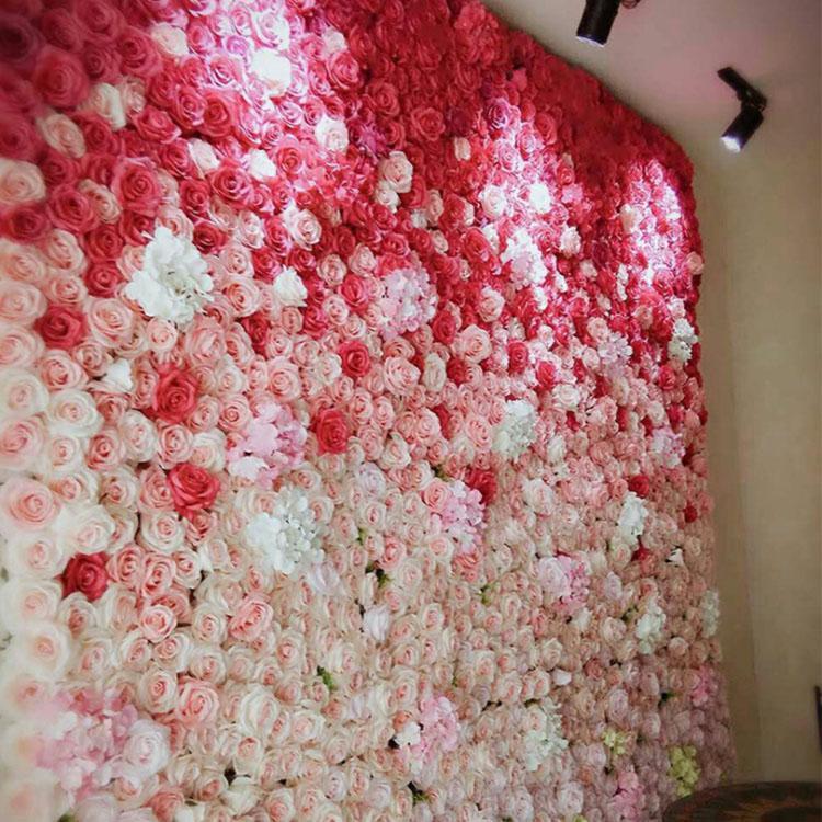 Yeni Moda Düğün Çiçek Duvar Simülasyonu Ipek Gül Sentetik Çiçek Duvar Standı Ile Düğün Stüdyo Çiçek Topu Ev / Mall Dekorasyon