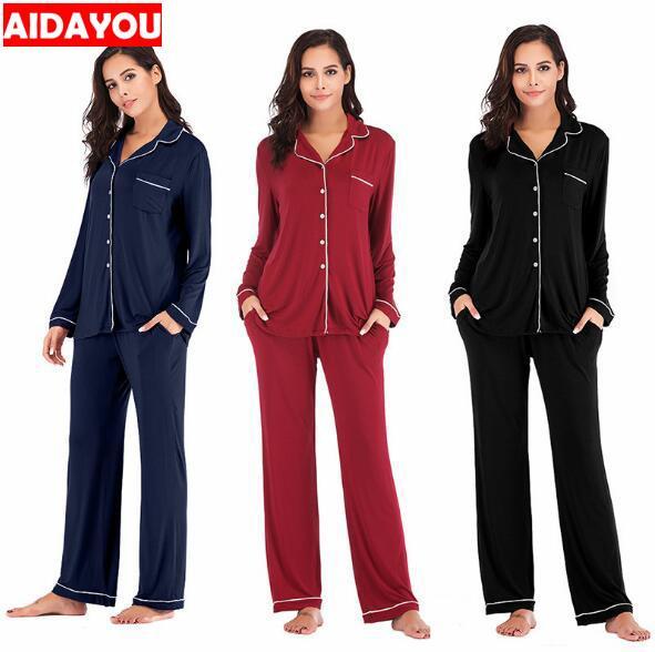 Inverno Pajama Set 2 parti delle donne Lounge abito di velluto elastico maniche lunghe Stretch Sleepwear Pantaloni Tops Satin plus size ouc041