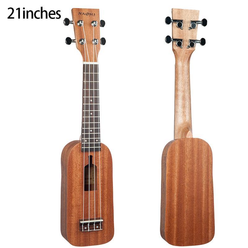 Tipo String Guitar 4 Ukulele NAOMI Soprano Ukulele Ukelele Hawaii guitarra Mahogany 12 Frets Ukulele Bottle