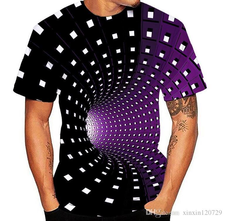 camiseta Camisetas de los hombres 3D impresión cuello redondo manga corta camiseta de la camisa homme Casual sueltas macho hombres de la camiseta Top Camisas masculina