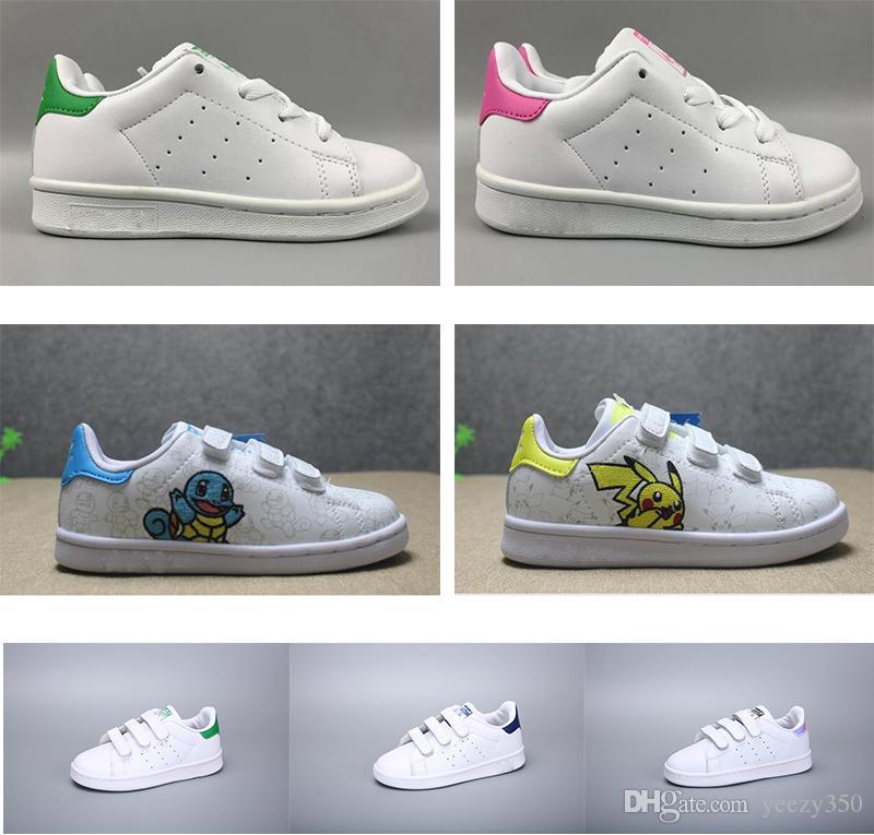 Çocuklar Ayakkabı Çocuk Stan Smith Superstar Çocuk Kız Çocuk Erkek Bebek Çocuk Kaykay Ayakkabı Rahat Smith Spor Ayakkabı Boyutu 24-35