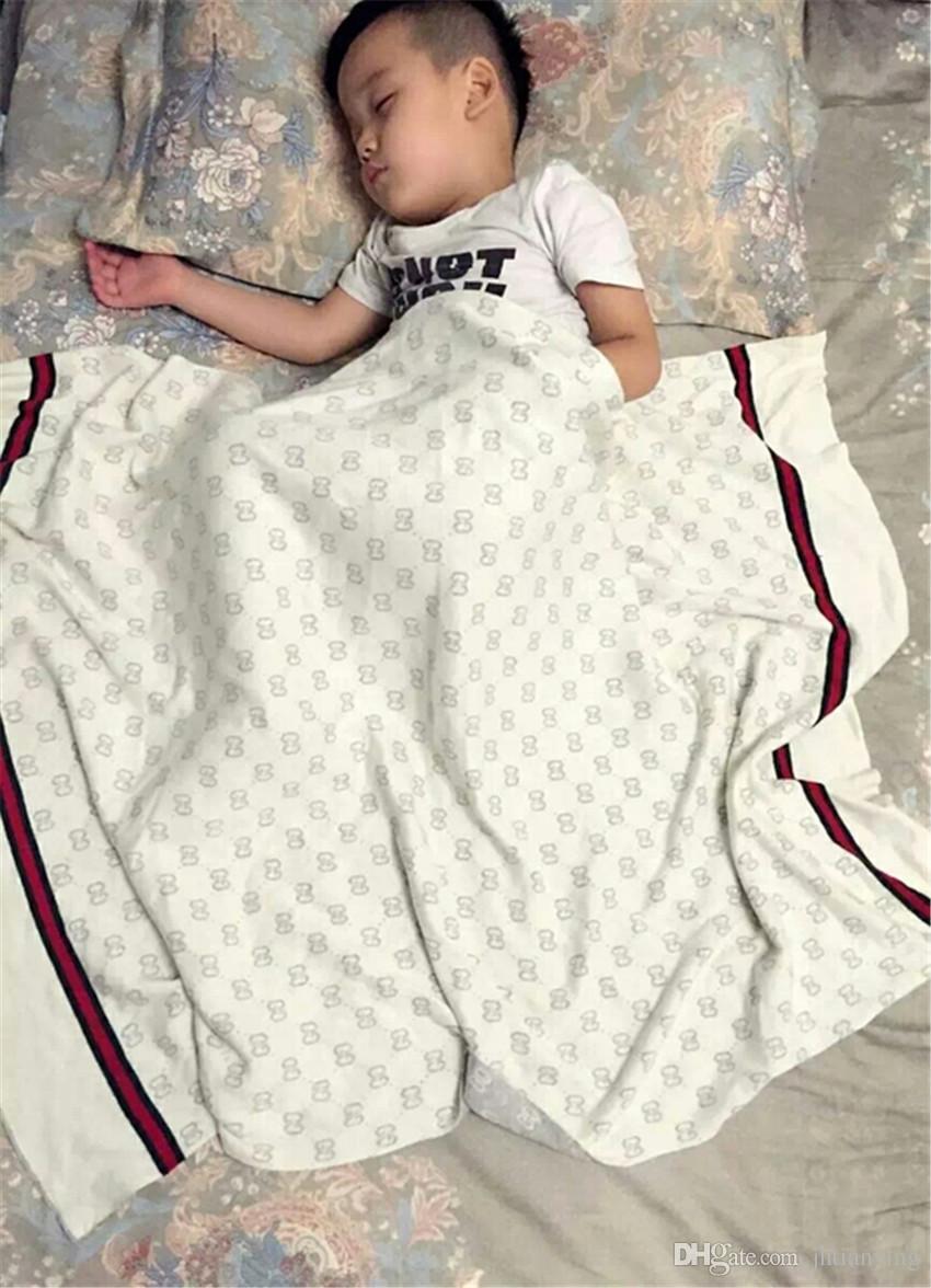 INS 아기 담요 코 튼 원단 여름 품질 담요 여름 해변 카펫 베이지 색 담요 아기 90 * 120 CM에 대 한 뜨개질
