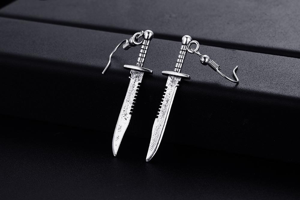 Мода 20 пара Винтаж нож образный висячие серьги для женщин и девочек ретро милые маленькие серьги ювелирные изделия
