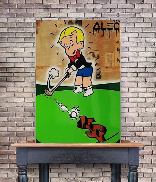Alec Monopoly Richie Rich Home Decor Handpainted &HD Print Oil Painting On Canvas Wall Art Canvas Pictures 200519