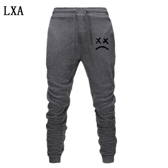 2020 Lil pío Pantalones Hip Hop Pantalones Loose pantalón Hombres Mujeres Pantalones Casual caliente del basculador Negro gris del basculador EL-6