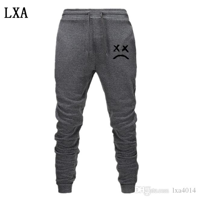 2020 Lil Peep Pants Hip Hop Loose Sweatpants Men Women Pants Trousers Casual Jogger Black Gray Warm Jogger EL-6