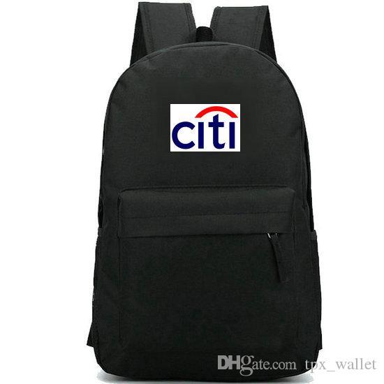 Mochila Citibank New york daypack Famoso banco impressão mochila Logo lazer mochila saco de escola Esporte Ao Ar Livre pacote de dia