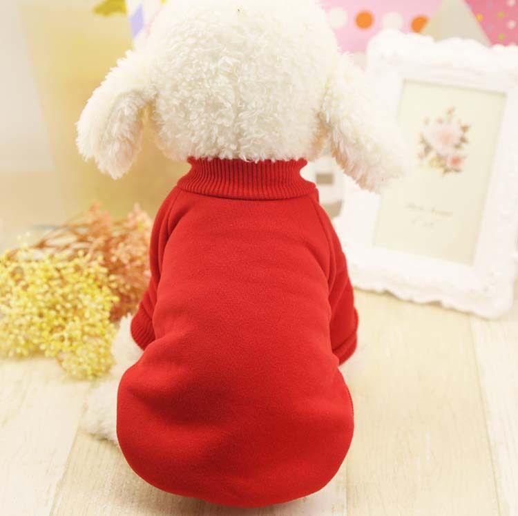 vestiti per cani vestiti per animali domestici maglione per cani tinta unita Teddy di Xiong Bomei colore puro più velluto Wei vestiti autunno e inverno nuovo