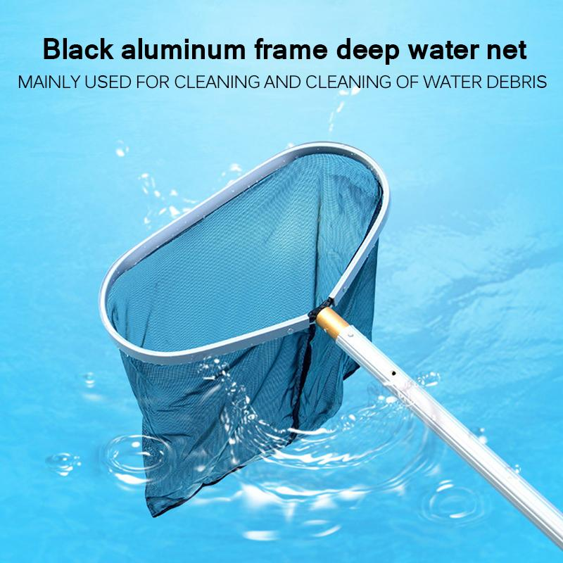swimming pool salvage net Pool Landing cleaner Net Cleaning with Aluminium Pole Fish Pond Skimmer Leaf garbage