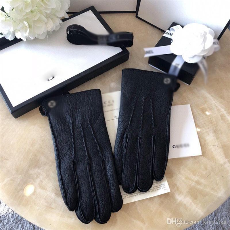 Luvas Tide Marca Homens Luva de couro Design de Moda Homens na moda e presentes na moda para Luvas Namorados cinco dedos