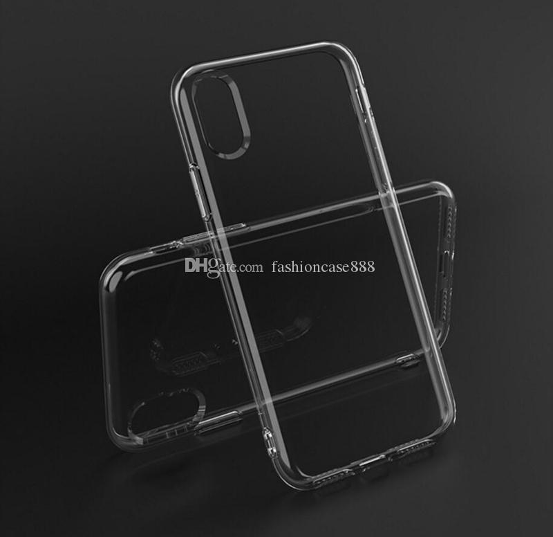 caja del teléfono de silicona TPU 2.0mm Cristalinas solf para el iphone 11 Pro XS máximo MAX XR 6 7 8 PLUS Samsung S10 S20 S20 Ultra PLUS S10E Nota 10 PRO