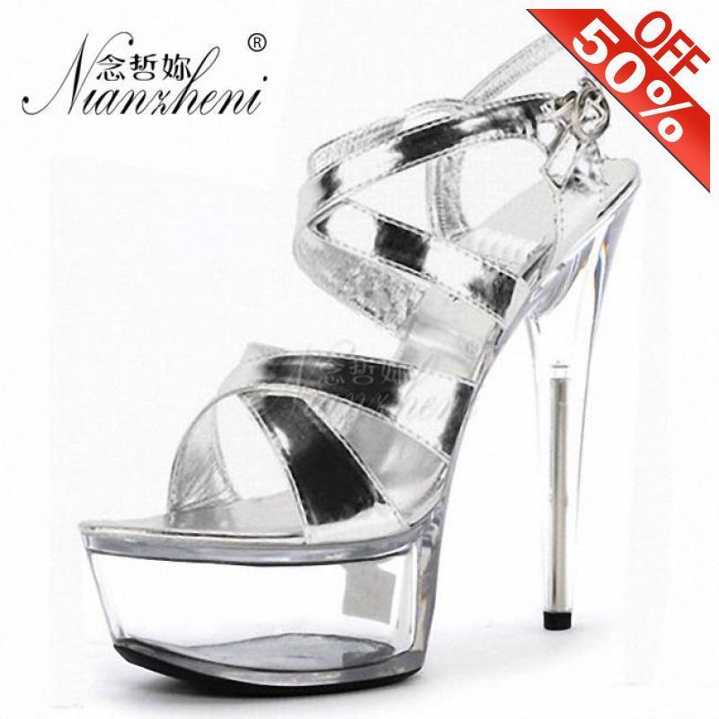 Summer New style Roman Hollow Open Toe Women's sandals 15cm Super High heeled shoes 6 inches Platform Trend Baking paint Mature
