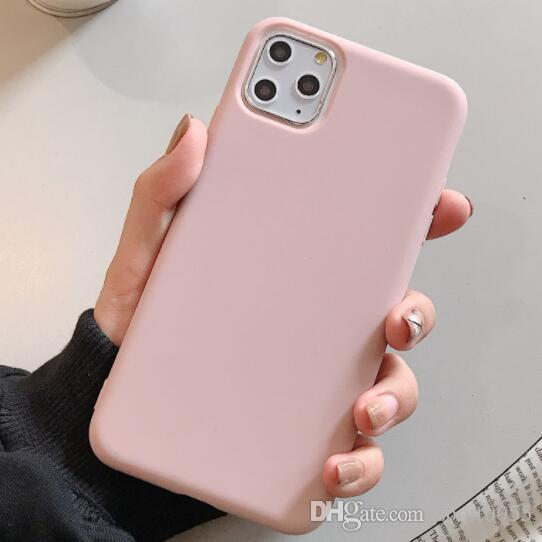 100pcs Sıcak Telefon Kılıfı Buzlu Renkli TPU Şeker Renk Kalınlaşmış Herşey Dahil Bırak Dayanıklı Iphone 7 8 Xr x'ler 11 Pro Max Plus 6S