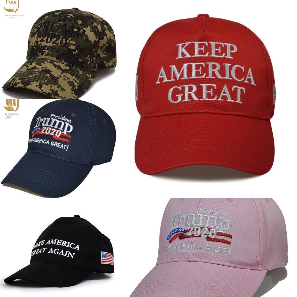 wR84r Donald Trump Cappello Estate Camouflage Mesh Cappellini cotone per uomo Lettera Trump berretto da baseball registrabile per adulti cappelli di modo di Sport per le donne Embroi