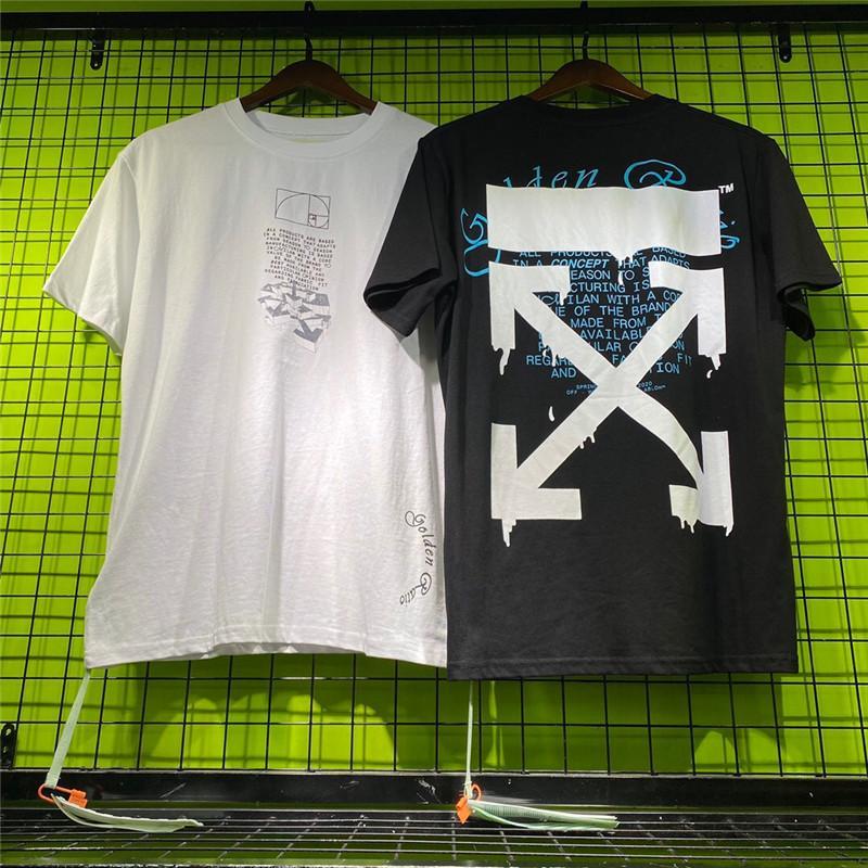 conçoit la marque de mode nouveau top manches courtes pour 2020 l'été noir T-shirt blanc et hommes occasionnels en option 2266