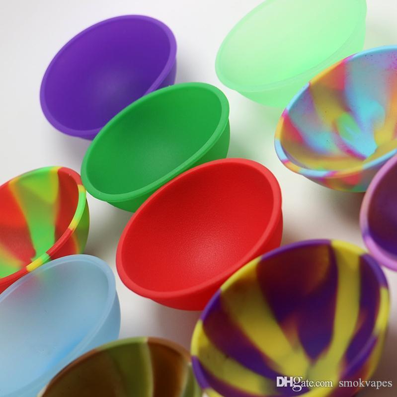 Silikon-Schüssel-Form-Behälter Mini Jars Box Gummi Tragbarer Innovative Design Für Wachsöl Vape Vaporizer Atomizer Hot Kuchen DHL geben