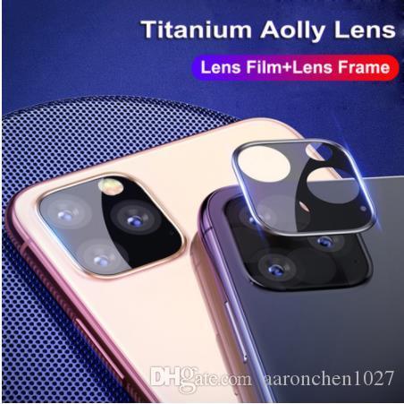 En iyi Geri Kamera Lens Ekran Koruyucu Için iPhone 11 12 Mini Pro XS Max XR X Yüzük Metal Arka Kılıf Temperli Cam Film