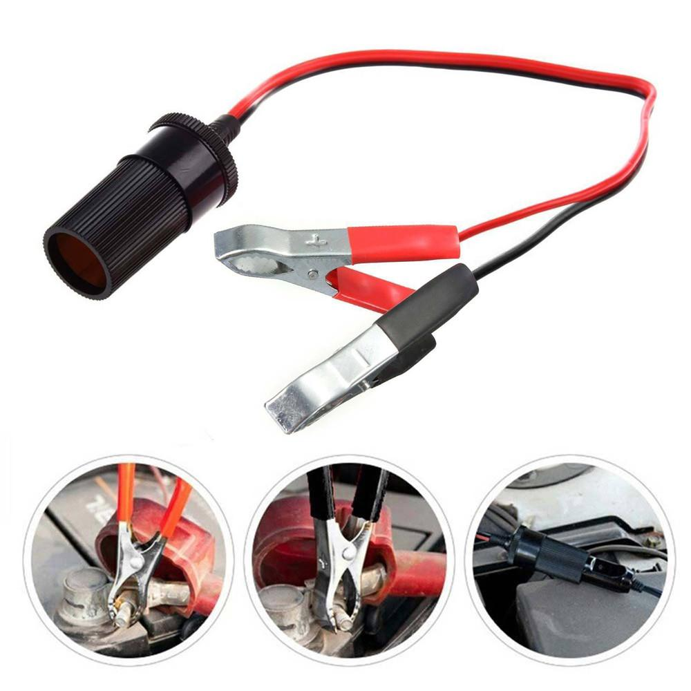 Voiture allume-cigare 12V Plug Power Portable Adaptateur Pince crocodile