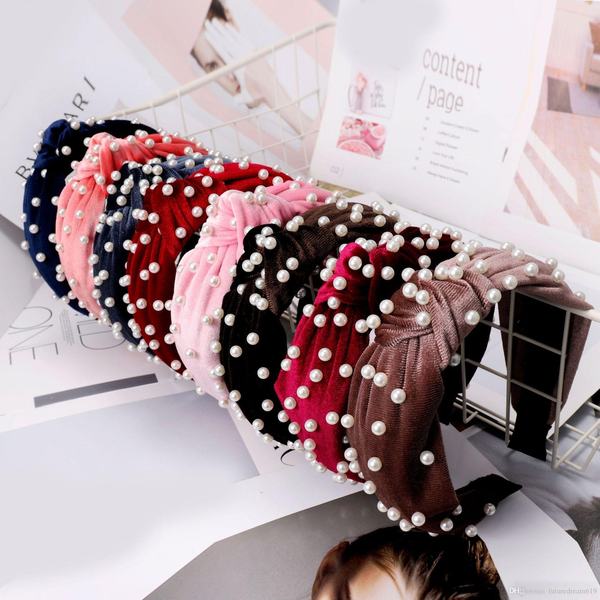 Candy Color Girl Полный Бисероплетение Лук Дизайн Pleuche лента для волос Бутик Палочки для волос Очаровательный Аксессуар Для Волос