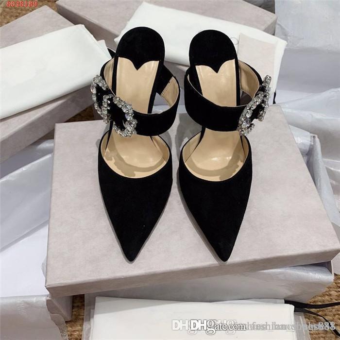 Verão nova moda chinelos de salto alto super sexy temperamento único diamante de Cristal chinelos Superior de Salto Alto 10 cm