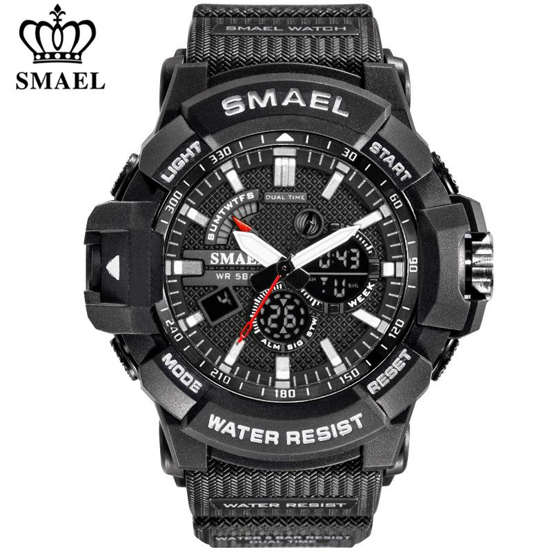 Smael Mens Moda de Nova Digital-Watch Sports Relógios Homens do Exército Militar Relógio de pulso Relógio Masculino Relógio analógico relógio de quartzo