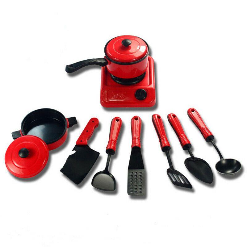 9 / 13pcs di plastica di modo elettrodomestico da cucina Strumenti di cottura impostato Utensili bambini Finta Play giocattoli educativi