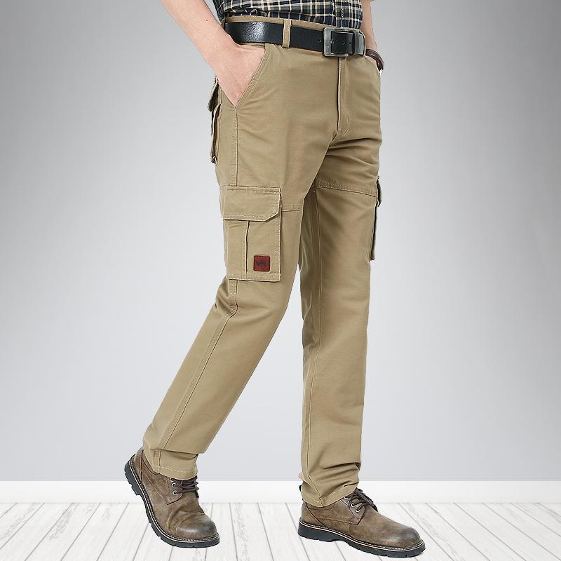 الرجال السراويل 2021 الرجال البضائع متعددة جيوب التكتيكية أبلى الشارع الشهير الجيش الأسلاك مستقيم عارضة سراويل طويلة