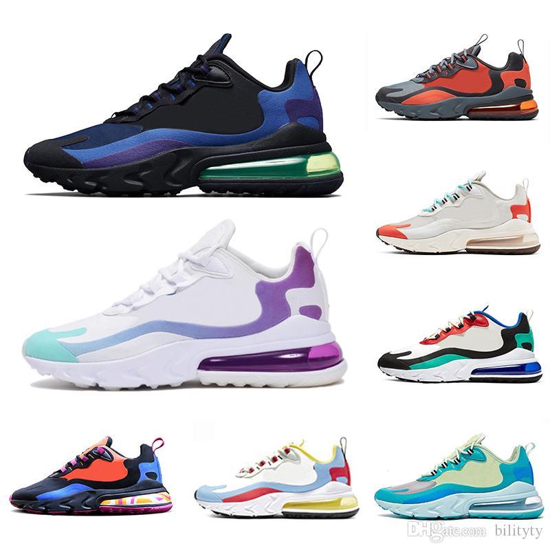 Nike air max 270 react shoes 2019 reaccionan los hombres corriendo zapatos Bauhaus Optical para hombre entrenadores deportes respirables zapatillas de deporte al aire libre 40-45