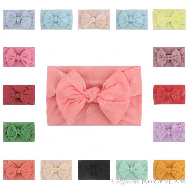 23 Baby Colors Filles Bandeaux Big Bows cheveux élastiques Bandeaux Mode Accessoires cheveux pour nourrissons Nouveau-nés tout-petits enfants cadeau