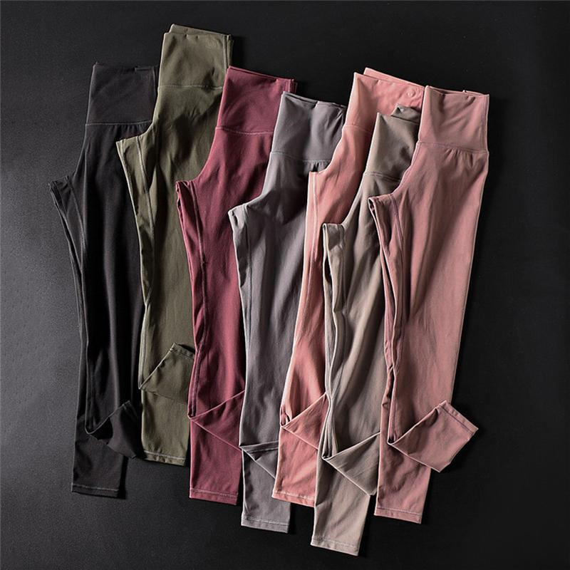 Soft Naked Feel High Waist Gym Fitness Leggings Women Push Up Hip Workout Running Tights Sweat-wicking Stretch Ankle Yoga Pants Y200106