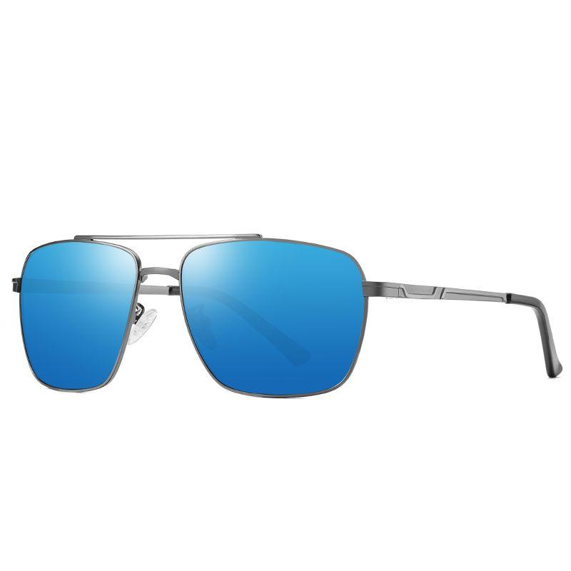 New Brand designer Sunglasses fashion classic polarized sunglasses riding driving sunglasses gold square metal frame retro style send box 19