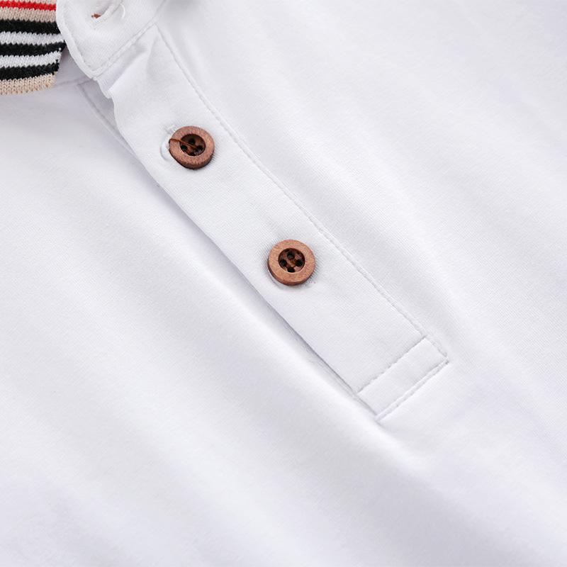 Kindersommerkleidung Jungen und Mädchen weiß-Baby T-Shirt 2-6 Jahre alt modische Mädchen Jacke Baumwolle Baby Stil MXFX rein