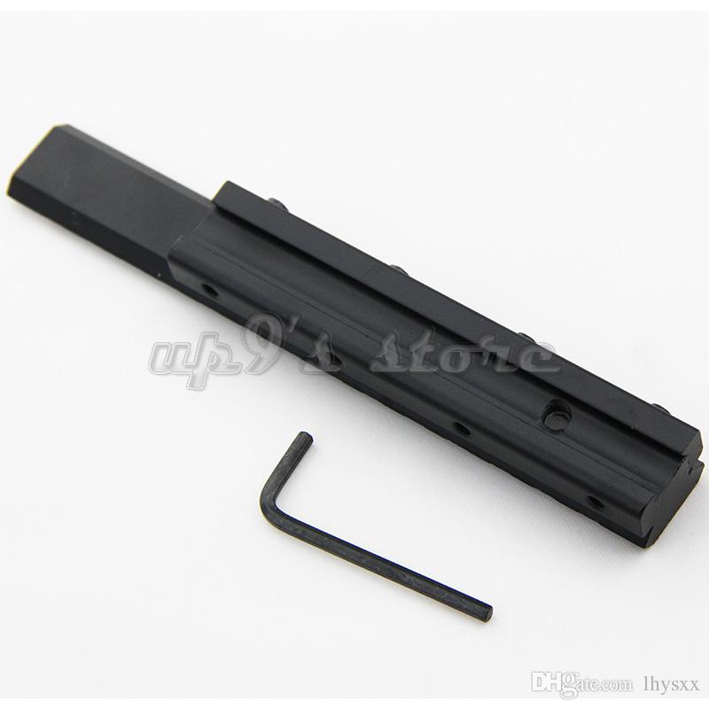 Length 155mm Hunting Picatinny Weaver Low Profile Tactical 11mm to 20mm Rail Adapter 7/8 Inch Dovetail to 3/8 Inch Rail Adapter