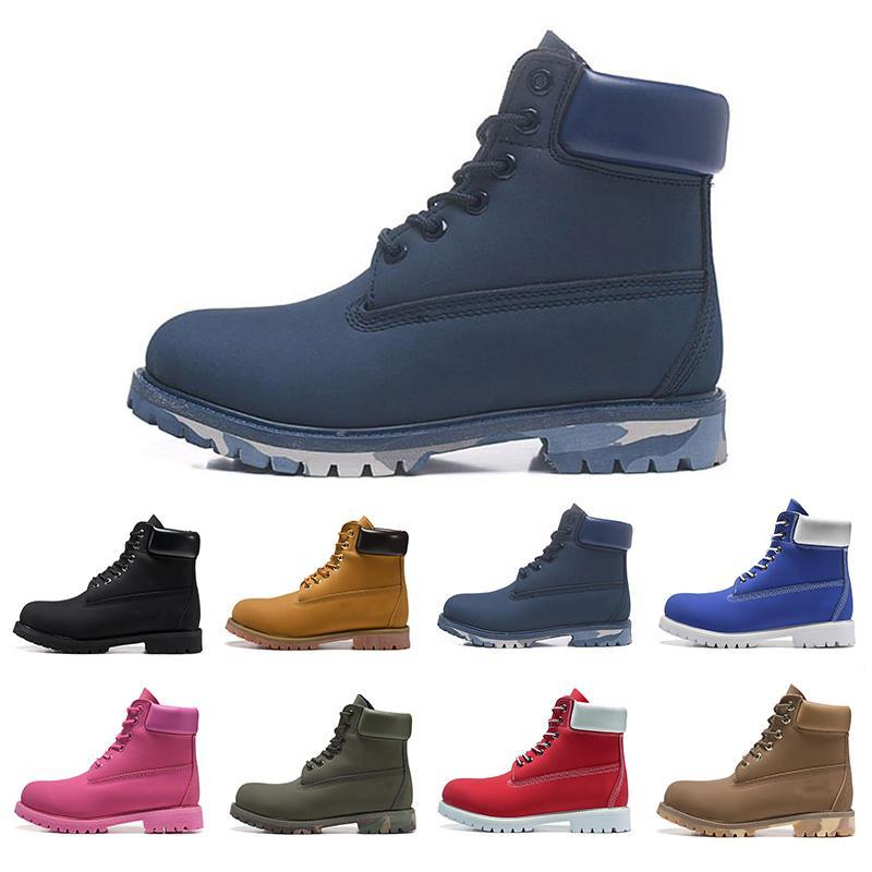 2020 горячая роскошь дизайнер мужчины женщины сапоги каштан тройной черный белый темно-синий мода мужская Мартин ботинок открытый бег обувь для ходьбы 36-46