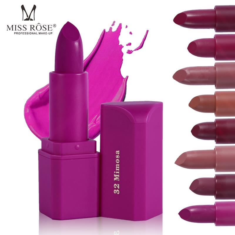 Miss Rose 20 Colors Matte Lipstick Waterproof Velvet Lip Stick Sexy Red Brown Pigments Makeup Lipsticks Matte Beauty Lips set
