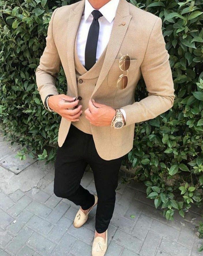 Yeni Geliş Groomsmen Tepe Yaka Damat smokin Bir Düğme Erkekler Düğün / Gelinlik / Akşam Sağdıç Blazer (ceket + pantolon + Kravat + Vest) G257 Takımları